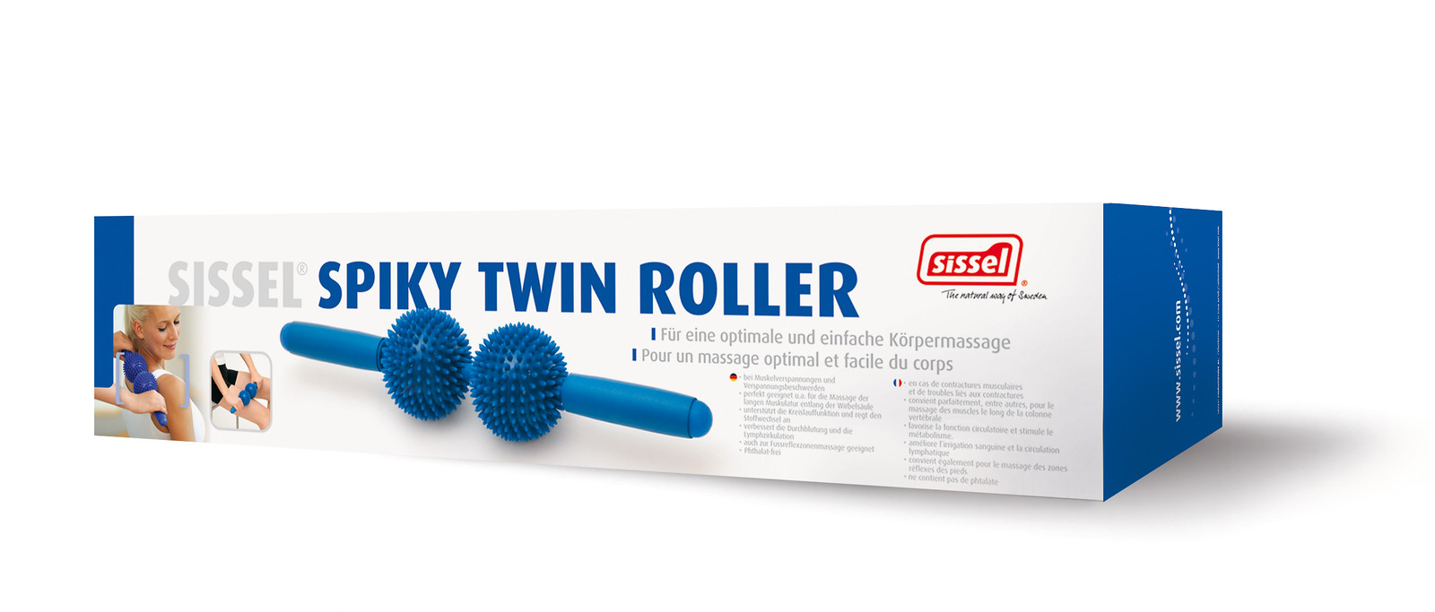 Spiky twin roller